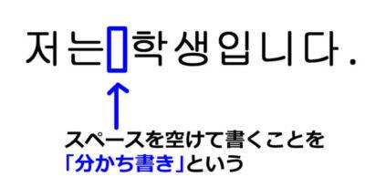 韓国語の分かち書きのルールを覚える! | ススメカンコクゴ